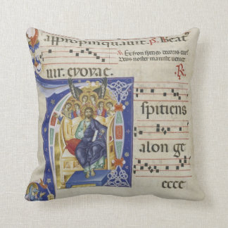 Initial A: Christ in Majesty Throw Pillow