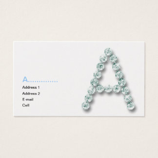 Initial A diamond Business Card