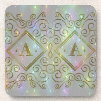 initial a sparkle coaster