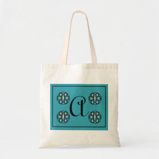 "Initial ""A"" tote Canvas Bag"
