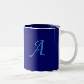 Initial A Two-Tone Coffee Mug