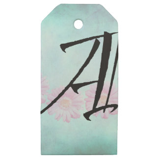 Initial A Wooden Gift Tags
