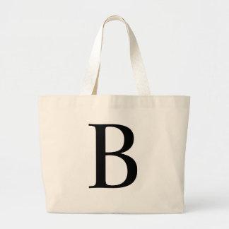 Initial B Jumbo Tote Bag