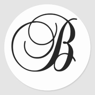 Initial B round sticker