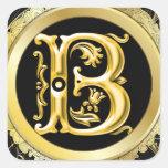 Initial B Sticker in Gold