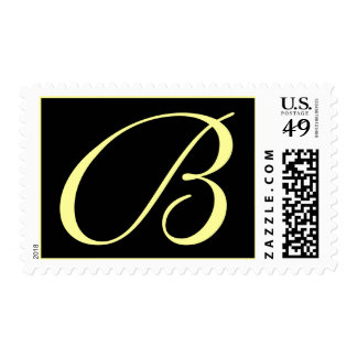 INITIAL B WEDDING POSTAGE STAMPS