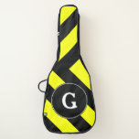 [ Thumbnail: Initial + Black & Yellow Chevron-Like Pattern Guitar Case ]
