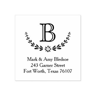 Initial Branches Return Address Rubber Stamp