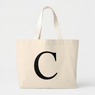 Initial C Jumbo Tote Bag