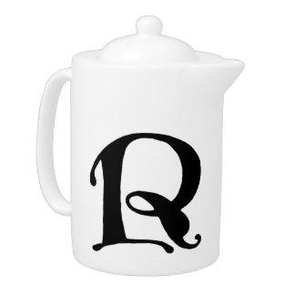 Initial Cap Letter R Vintage Teapot