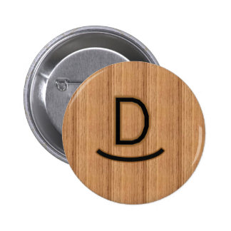 Initial D Brand - Rocking D in Wood Button