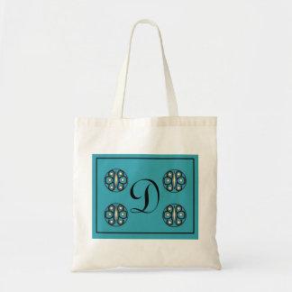 "Initial ""D"" tlte Canvas Bag"
