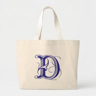 """Initial """"D"""" Tote Bag"""