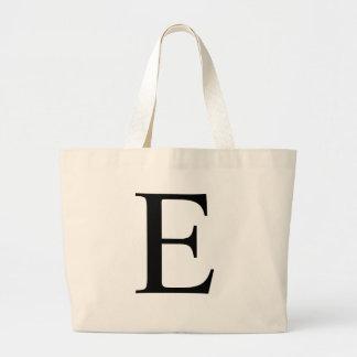 Initial E Jumbo Tote Bag