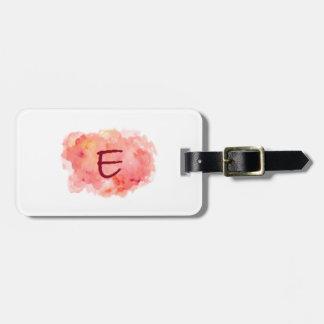 Initial 'E' Luggage Tag