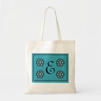 """Initial """"E"""" tote Tote Bag"""