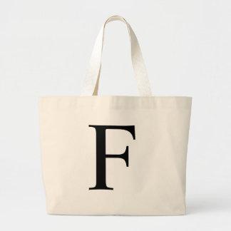 Initial F Jumbo Tote Bag