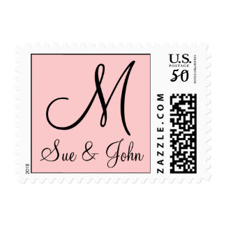Initial First Names Wedding Postage Stamp