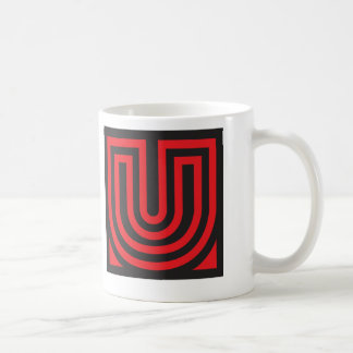 Initial for names starting with U Coffee Mug