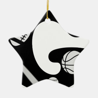 initial G Ceramic Ornament