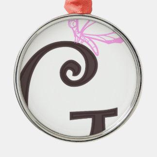 initial G Metal Ornament