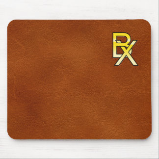 initial gold B and X on leather bottom Mouse Pad