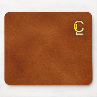 initial gold C and L Mouse Pad