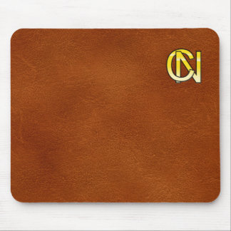 initial gold C and NR Mouse Pad
