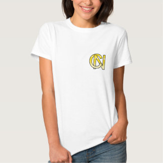 initial gold C and NR Tee Shirt