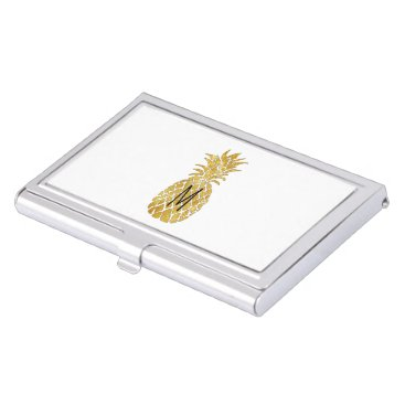 Professional Business initial golden pineapple business card holder