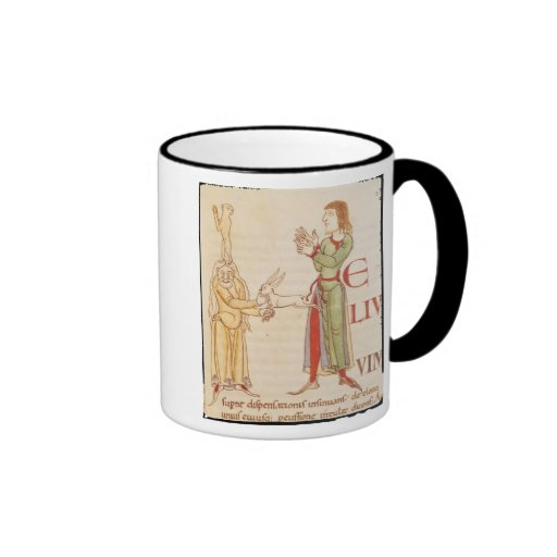 Initial 'H' in the form of two conjurors Coffee Mug