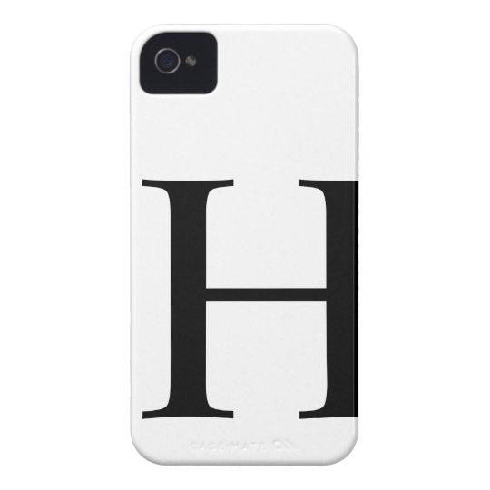 Initial H iPhone 4/4S Barely There Case