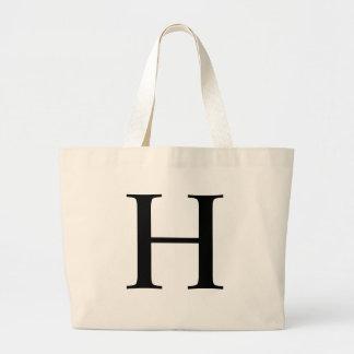 Initial H Jumbo Tote Bag