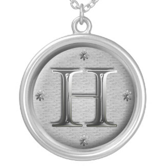 initial H necklace