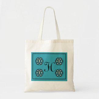 "Initial ""H"" tote Canvas Bag"