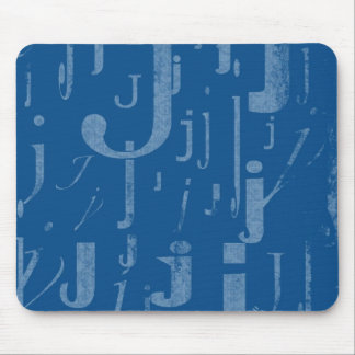 Initial J Mouse Pad