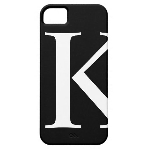 Initial K iPhone 5 Barely There Case