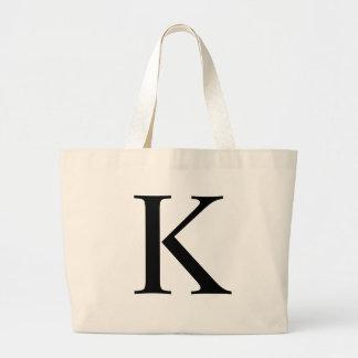 Initial K Jumbo Tote Bag