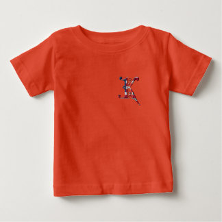 Initial K Monogrammed American Flag Color Elegant Baby T-Shirt