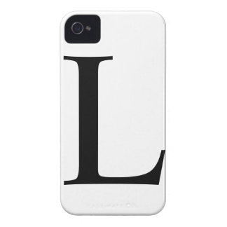 Initial L iPhone 4/4S Barely There Case iPhone 4 Case-Mate Case