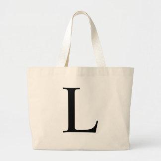 Initial L Jumbo Tote Bag