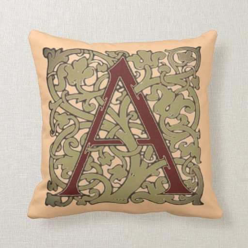 Initial Letter A Throw Pillows Zazzle