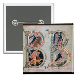 Initial letter 'B' Beatus vir - Blessed is the Pinback Button