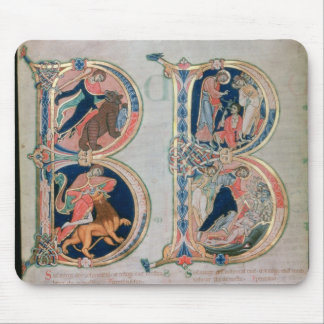 Initial letter 'B' Beatus vir - Blessed is the Mouse Pad