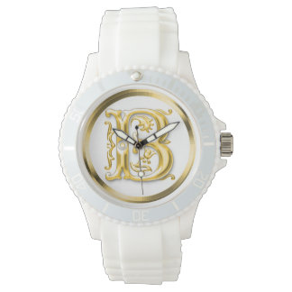 Initial Letter B Stylish Girly Designer Watch