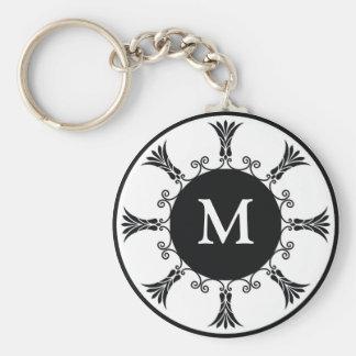 Initial Letter Monogram Key chain : : Black
