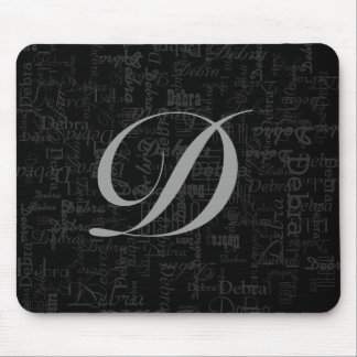 initial letter & name pattern personalized mouse pad