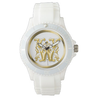 Initial Letter W Stylish Girly Designer Watches
