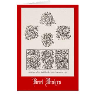 Initial letters, Nuremberg 1500 Card