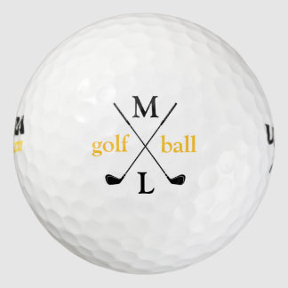 initial letters . personalized golf balls
